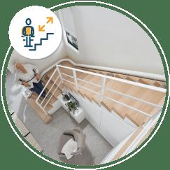 monte-escalier installé par Sachot